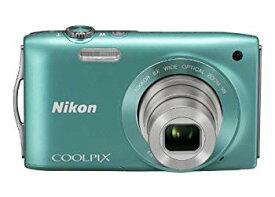 【中古】Nikon デジタルカメラ COOLPIX (クールピクス) S3300 ミントグリーン S3300GR