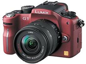 【中古】パナソニック デジタル一眼カメラ LUMIX (ルミックス) G1 レンズキット コンフォートレッド DMC-G1K-R