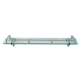 【中古】LIXIL(リクシル) INAX レール付化粧棚 スタンダードシリーズ ガラス棚 透明タイプ 455×120×55 KF-5A