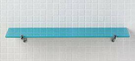 【中古】LIXIL(リクシル) INAX 化粧棚 ガラス棚(青白タイプ) スタンダードシリーズ KF-5/BW