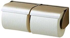 【中古】LIXIL(リクシル) INAX トイレ用 横2連式紙巻器 ステンレス(ヘアライン) CF-12SW