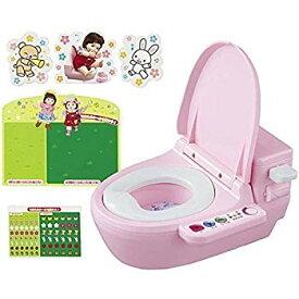 【中古】ぽぽちゃん お道具 おしゃべりトイレ トイレデコセットつき
