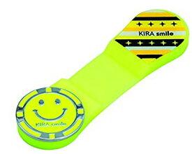 【中古】キャスコ(Kasco) グリーンマーカー KIRAスマイル シリコンクリップマーカー ユニセックス KICM1817 イエロー サイズ:クリップ幅2.4cm×長さ8.5c