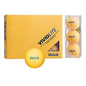 【中古】Volvik(ボルビック) ゴルフボール VOLVIK VIVID VOLVIK VIVID LITE シャーベットオレンジ (1ダース) オレンジ