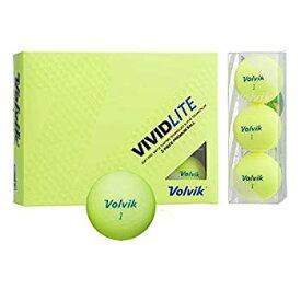 【中古】(未使用・未開封品) Volvik(ボルビック) ゴルフボール VOLVIK VIVID VOLVIK VIVID LITE シャーベットイエロー (1ダース) イエロー