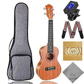 【中古】コンサート・ ウクレレ Ranch Concert Ukulele 23 インチ・サイズ 天然ウッド製 【Hawaii 初心者入門セット】専門の ハワイ・ミニ・ギター 楽器