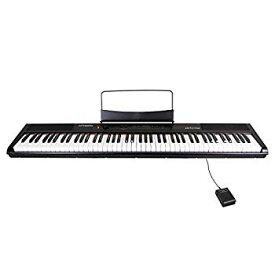 【中古】Artesia 電子ピアノ 88鍵 軽量スリム設計 電池駆動対応モデル PERFORMER/BK ブラック (サスティンペダル付属)