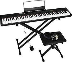【中古】Artesia 電子ピアノ 初心者セット 88鍵 PERFORMER/BK ブラック (サスティンペダル/スタンド/椅子/ヘッドフォン付属)