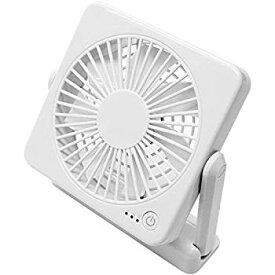 【中古】トップランド 11cm コンパクト デスクファン マグネット付き どこでもファン (風量3段階) 3電源対応(AC+USB+別売乾電池) ホワイト SF-DF10 WT