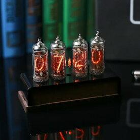 ニキシー管置時計 IN-14 tube classic wood and black case 4-tubes DoriRobo