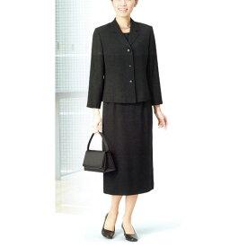 【送料無料】【代引無料】【Margurite Roman】サマーフォーマルブラック・スーツ【9号・11号・13号・15号】【日本製】30代 40代 50代 60代のミセス・シニアファッション