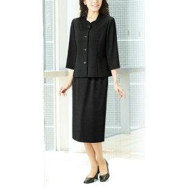 【送料無料】【代引無料】【Margurite Sis】サマーフォーマルブラック・スーツ【9号・11号・13号】【日本製】30代 40代 50代 60代のミセス・シニアファッション
