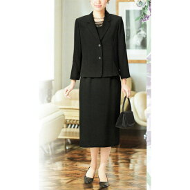 【送料無料】【代引無料】【Margurite Roman】サマーフォーマルブラック・スリーピース【9号・11号・13号・15号・17号】【日本製】30代 40代 50代 60代のミセス・シニアファッション