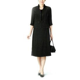 【送料無料】【代引無料】【Margurite Roman】サマーフォーマルブラック・【9号・11号・13号】【日本製】30代 40代 50代 60代のミセス・シニアファッション