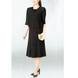 【送料無料】【代引無料】【Margurite Roman】サマーフォーマルブラック・ワンピース【9号・11号・13号】【日本製】30代 40代 50代 60代のミセス・シニアファッション