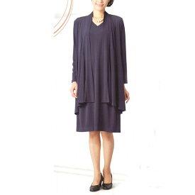 【送料無料】【Marguerite Sis】ブラックフォーマル・アンサンブル ニット 紺【M】【L】【LL号】ミセス・シニアに♪30代40代50代60代のレディスファッション