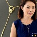 ロングネックレス K18 ギフト k18ネックレス Y字 18金 ダブル サークル ダイヤモンド ネックレス ダイヤ シンプル 18k ホワイト ゴールド イエロー mfd