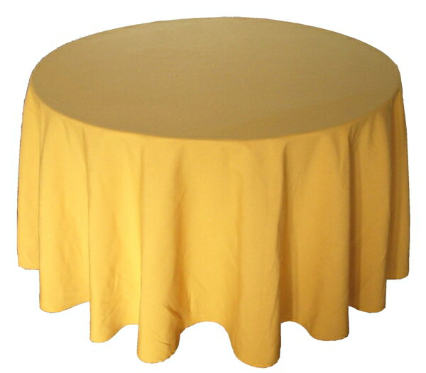Round Table Cloth [diameter 200 Cm Or 210 Cm] (MAJEST White)