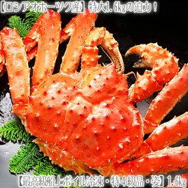 【タラバガニ タラバ蟹 送料無料】【姿】たらば蟹【最高級 特4級】1.6kg【活蟹をボイル】急速冷凍、職人の絶妙な塩加減!【ギッシリ詰まった】甘く繊細な蟹身は絶品!【北海道ブランド かに通販 福袋】