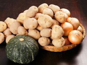 【特別価格】[JAS認定] 有機じゃがいも・玉ねぎ・かぼちゃセット(北海道産)※有機野菜は、収穫により内容が変わる場合がございます。送料別
