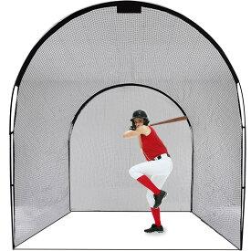 野球バッティングゲージ 野球ゲージ 野球ネット 野球防球ゲージ キャリーバッグ付き 3x3x4m