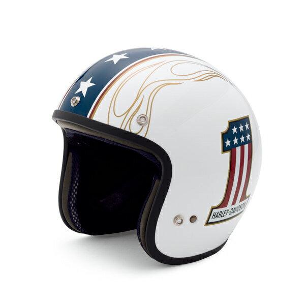【純正品】アライヘルメット・Arai Helmet Meets H-D Spirit・3/4 NO.1 LOGO WHITE・ジェットヘルメット ナンバーワン ロゴ ホワイト:98326-14VA・売れ筋