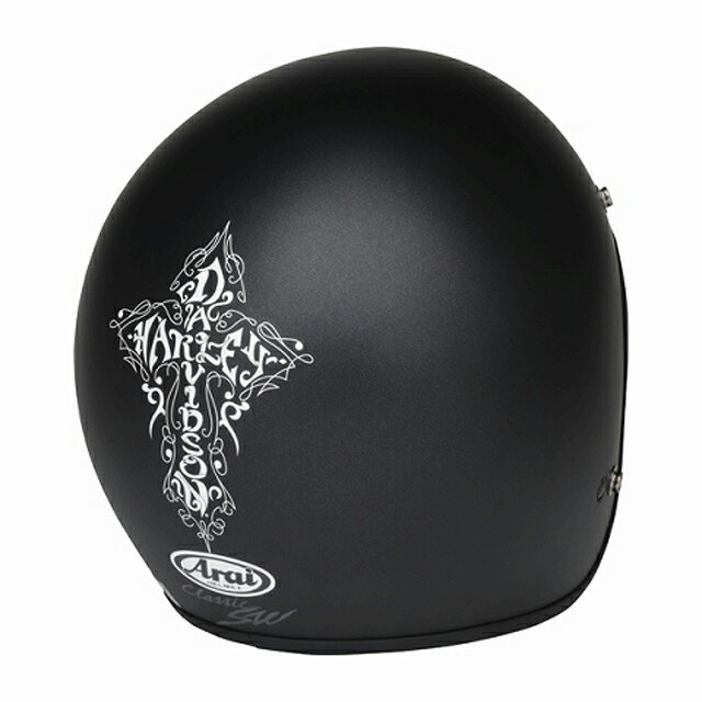【純正品】ARAI×HARLEY-DAVIDSON・3/4 H-D cross graphic matte black・クロスグラフィック マットブラック・アライ製ジェットヘルメット:98226-16VA