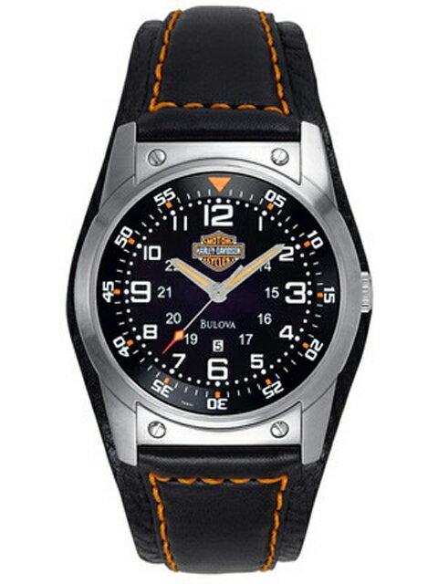 ハレーダビッドソン正規品【Harley Davidson by BULOVA】Men's Bulova Bar & Shield Wrist Watch 76B31(アクセサリー・ウォッチ・腕時計)