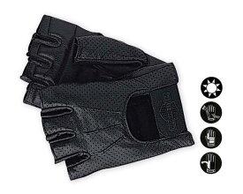 【純正品】HARLEY-DAVIDSON◆ハーレーダビッドソン・Perforated Fingerless Gloves ・パフォーテッドフィンガーレスグローブ・指なしレザーグローブ:98182-99VM