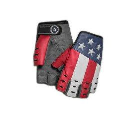 HARLEY-DAVIDSON(ハーレーダビッドソン)【純正品】Men's Patriot Fingerless Gloves・メンズ パトリオット フィンガーレス グローブ・指なし・指無しグローブ・ゴートスキン レザーグローブ:98106-19VM