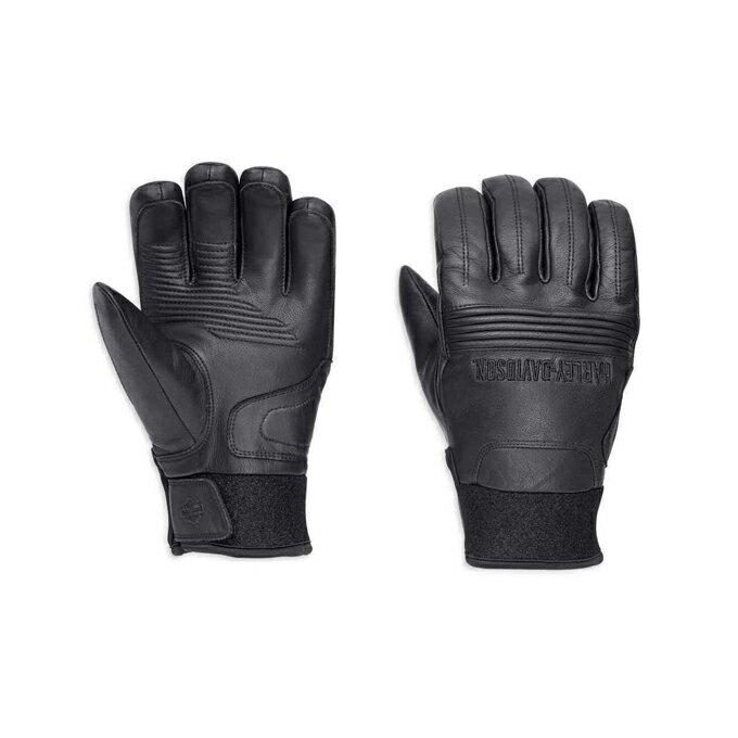 【純正品】HARLEY-DAVIDSON◆ハーレーダビッドソン・Men's Cyrus Insulated Waterproof Gloves◆冬用・メンズ サイラス インスレート ウォータープルーフ グローブ[防寒・防水]レザーグローブ[牛革]フルフィンガーグローブ:98220-18VM