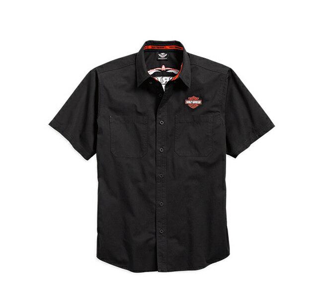 【純正品】HARLEY-DAVIDSON◆ハーレーダビッドソン・Pinstripe Flames Shirt・ピンストライプ フレーム シャツ・:99049-16VM [ 532P19Mar16 ]