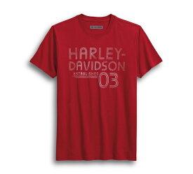 【純正品】HARLEY-DAVIDSON【数量限定】ハーレーダビッドソン・Men's Established 03 Slim Fit Tee・エスタブリッシュト03 スリムフィット Tシャツ・ハーレー プリントTシャツ:96228-18VM