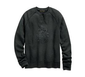 【純正品】HARLEY-DAVIDSON◆ハーレーダビッドソン・Men's Oak Leaf Slim Fit Pullover Sweatshirt・メンズオーク リーフ スリムフィット スウェットシャツ・トレーナー:96552-19VM