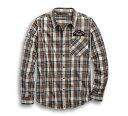 【純正品】HARLEY-DAVIDSON◆ハーレーダビッドソン・Men's Kick Ass Iron Plaid Slim Fit Shirt・キックアス アイロン…