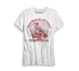 【純正品】HARLEY-DAVIDSON・ハーレーダビッドソン・Women's Fast Girls Tee・レディース ファストガール Tシャツ・ホワイトTシャツ・半袖:96708-19VW
