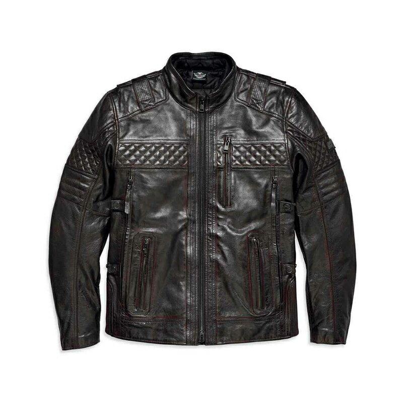 【純正品】HARLEY-DAVIDSON◆ハーレーダビッドソン・数量限定【アジアサイズ】Men's H-D Triple Vent System Ironstone Leather Jacket[バッファローレザー/ブラウン]レザージャケット・革ジャン・アジアサイズ:97193-18AC