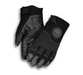 HARLEY-DAVIDSON(ハーレーダビッドソン)【純正品】Men's Newhall Mixed Media Gloves・メンズ ニューホール ミックスド メディア グローブ・フルフィンガー メッシュ&レザーグローブ:98385-19VM