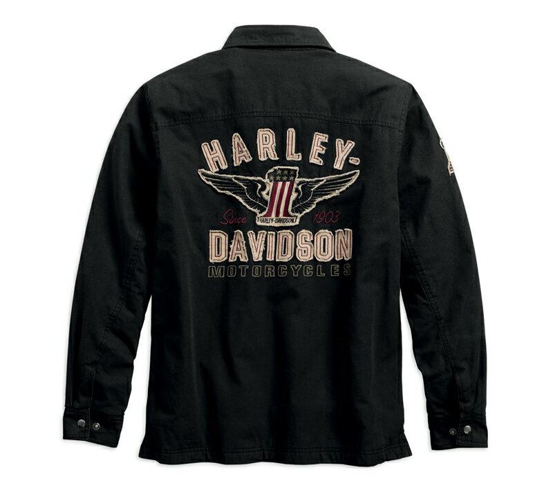 【純正品】HARLEY-DAVIDSON◆ハーレーダビッドソン◆Men's #1 Genuine Classics Shirt Jacket・#1 ジェニュイン クラシック シャツジャケット【アジアサイズ】※日本サイズと同じで、袖・丈が長すぎることはありません。:99044-18AC