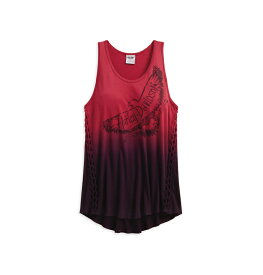 【純正品】HARLEY-DAVIDSON◆ハーレーダビッドソン【数量限定】Women's Braided Dip-Dye Tank・レディース ディップ-ダイ タンク・タンクトップ・サイドの編み込みとラウンドの裾が綺麗なタンクトップ:96002-18VW