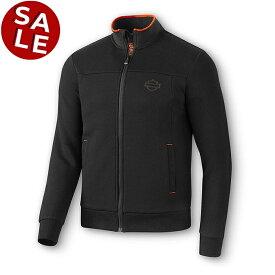 「セール」【純正品】HARLEY-DAVIDSON◆ハーレーダビッドソン・Men's Slim Fit Mockneck Slim Fit Activewear Jacket・メンズスリムフィットモックネックスリムフィットアクティブウェアジャケット・スウェットジャケット[ブラック]:96274-20VH