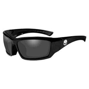 ハーレー・サングラス【Harley Davidson by WILEY X】Tat Skull Gasket Sunglasses, Gray Lens & Black Frame・グレーレンズ・固定式インナーシールド・紫外線カット99.9%・[付属]巾着袋:HATAT01(アクセサリー・サン