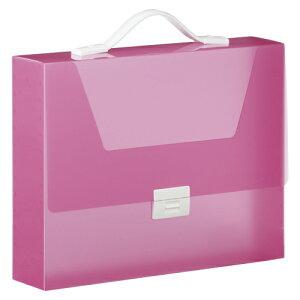 キングジム シンプリーズ キャリングケース グリップタイプ(透明) A4判 収納幅70mm(ピンク)