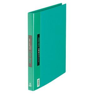 キングジム クリアーファイル カラーベース差し替え式 A4判タテ型(10ポケット+5インデックスポケット)・30穴(緑)
