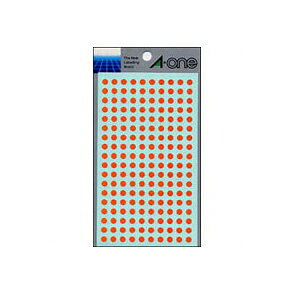 全商品ポイント2〜10倍16日23時59分まで/ エーワン カラーラベル 丸型5mm径(橙)
