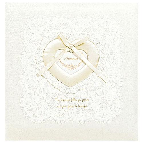 ナカバヤシ フエルアルバム 婚礼用 グレースフルマリッジ 布表紙 オルゴール付 L判 10枚(ベージュ)
