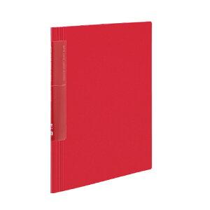 代引不可 コクヨ クリヤーブック〈ノビータ〉(ウェーブカットポケット・固定式) ポケット枚数/20枚(赤)