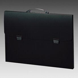 リヒトラブ ポートフォリオ・ナスカフレックス B3判 収納幅37mm(黒)