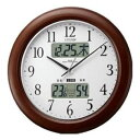 シチズン 電波掛時計 インフォームナビW(茶)