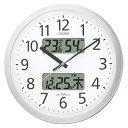 どっとカエールポイント大収穫祭 全商品2〜10倍ポイント/シチズン 電波掛時計 パルウェーブカレンダージムF(シル…